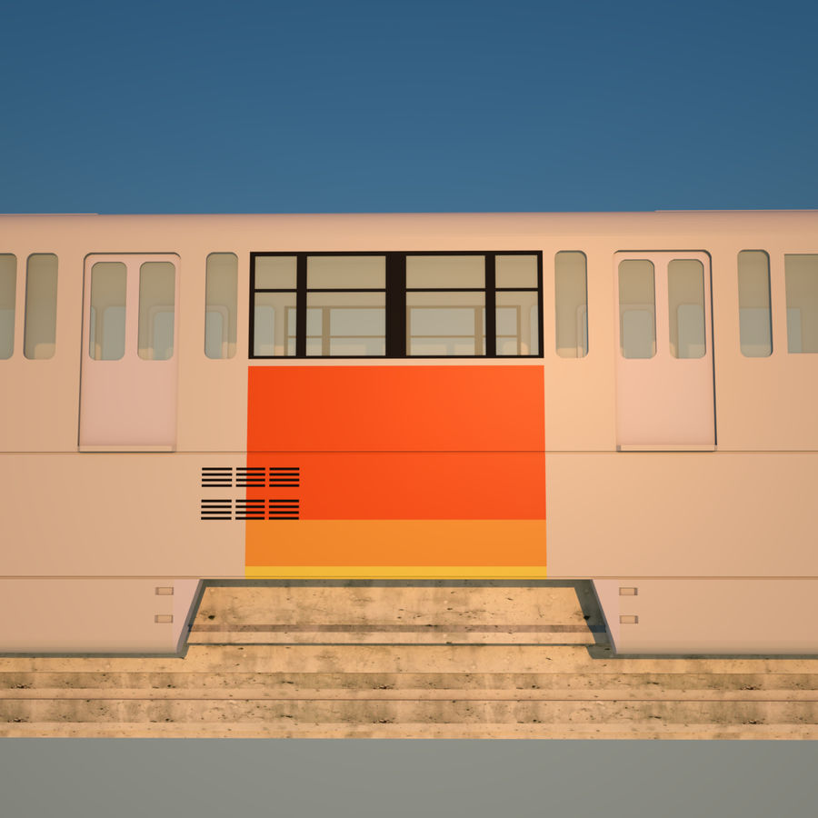 Monorail Modell 4 royalty-free 3d model - Preview no. 5
