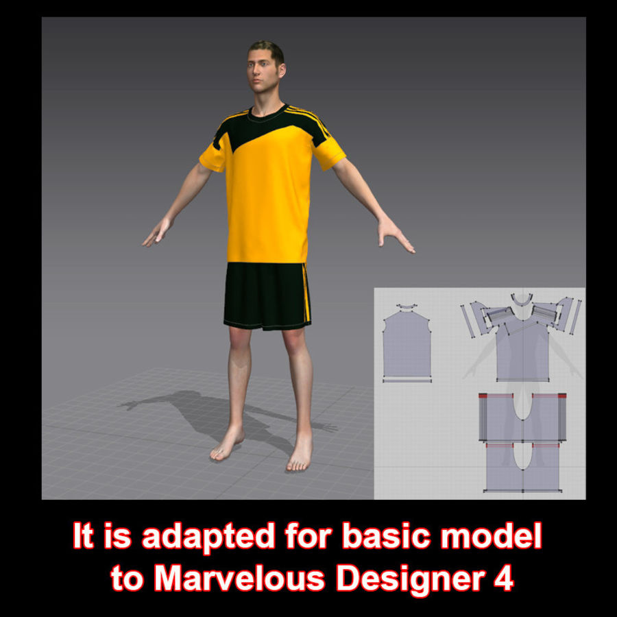 sport royalty-free 3d model - Preview no. 9