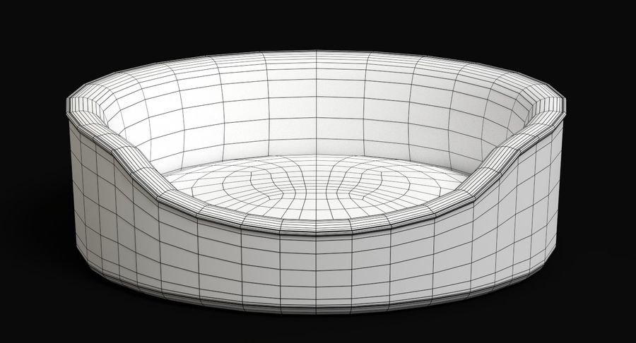 Pet Bed royalty-free 3d model - Preview no. 7