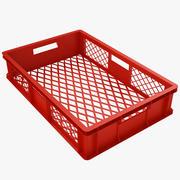 Caixa de Plástico 3 Vermelho 3d model