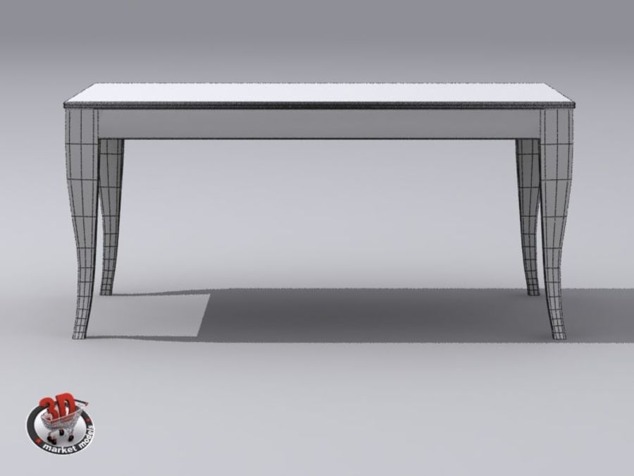 wood and marble table royalty-free 3d model - Preview no. 10