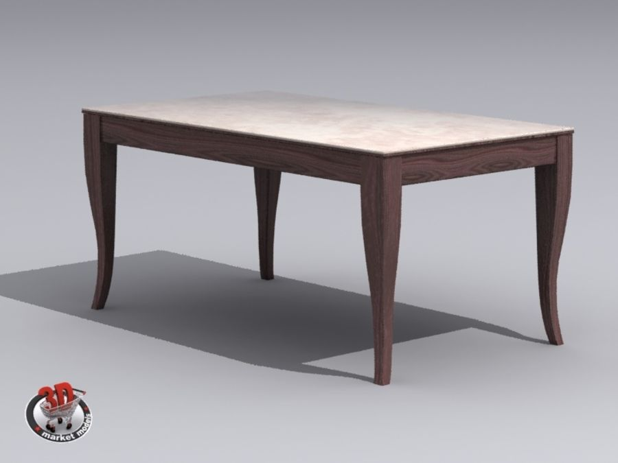 wood and marble table royalty-free 3d model - Preview no. 1