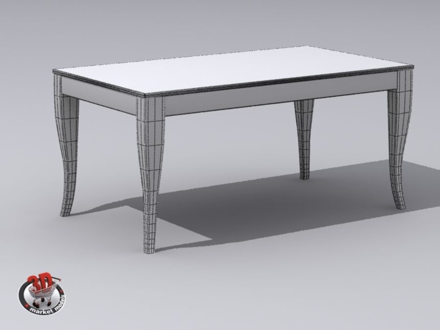 wood and marble table royalty-free 3d model - Preview no. 9