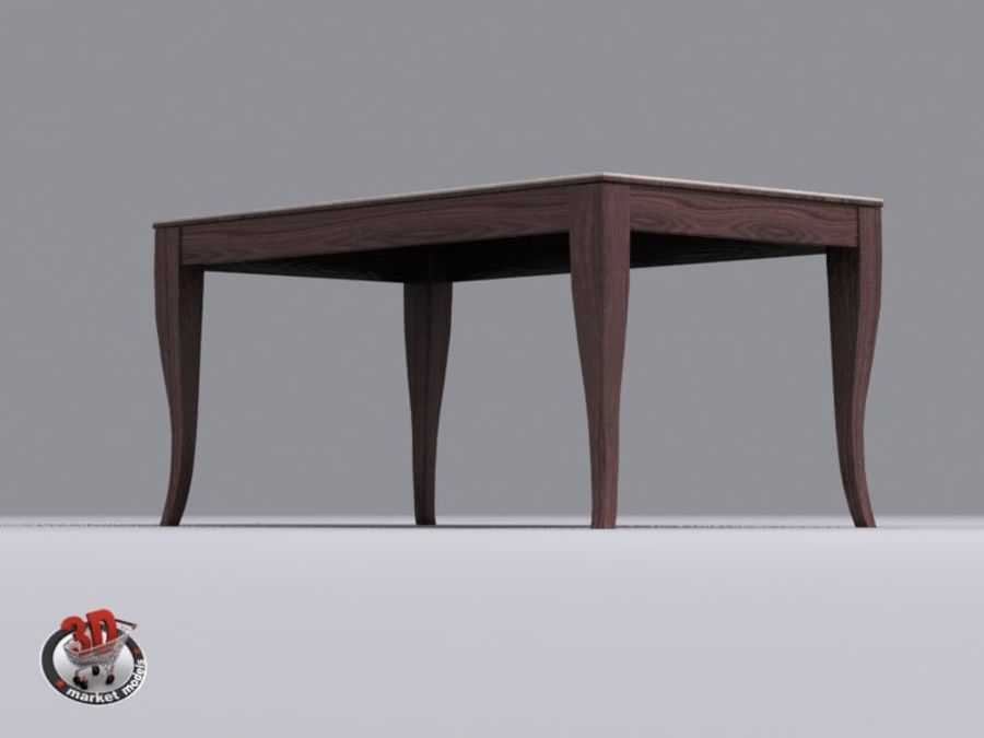 wood and marble table royalty-free 3d model - Preview no. 6