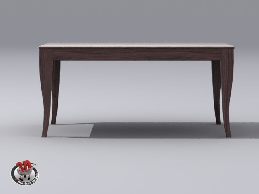 wood and marble table royalty-free 3d model - Preview no. 4