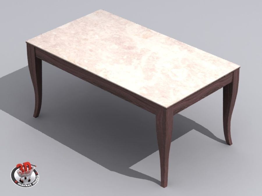 wood and marble table royalty-free 3d model - Preview no. 7
