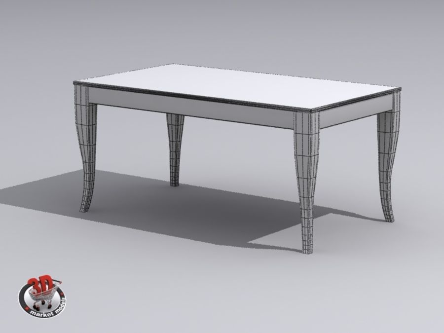 wood and marble table royalty-free 3d model - Preview no. 8
