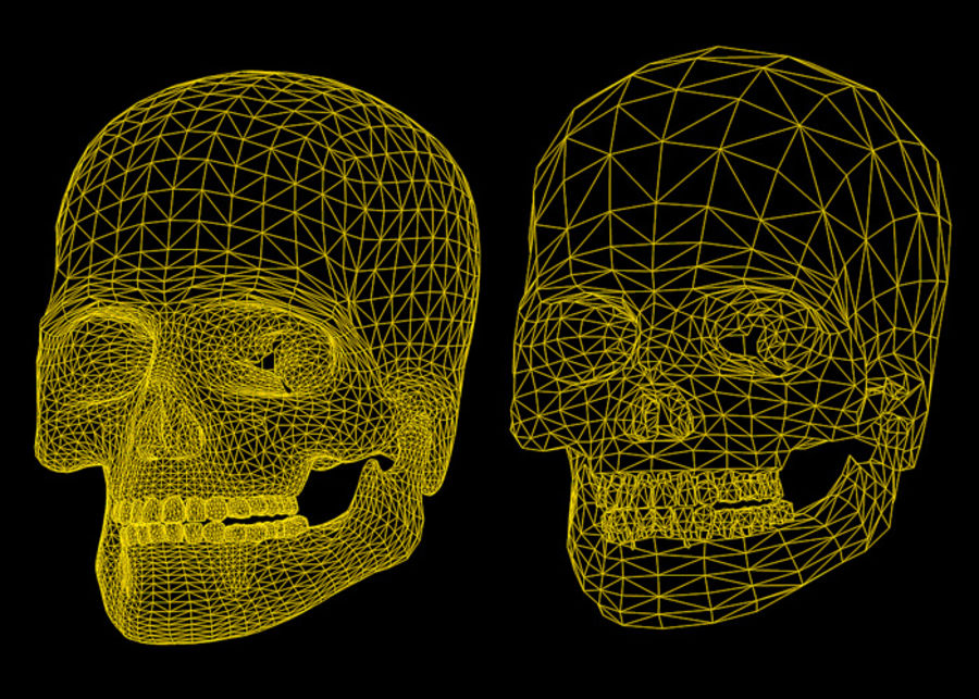 Skull Human Real Textured royalty-free 3d model - Preview no. 6