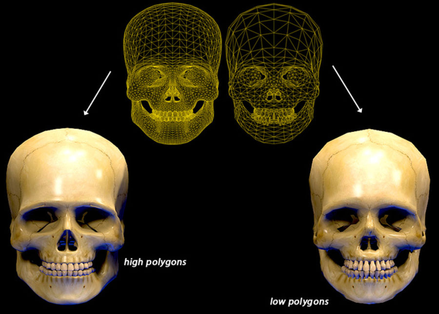 Skull Human Real Textured royalty-free 3d model - Preview no. 2