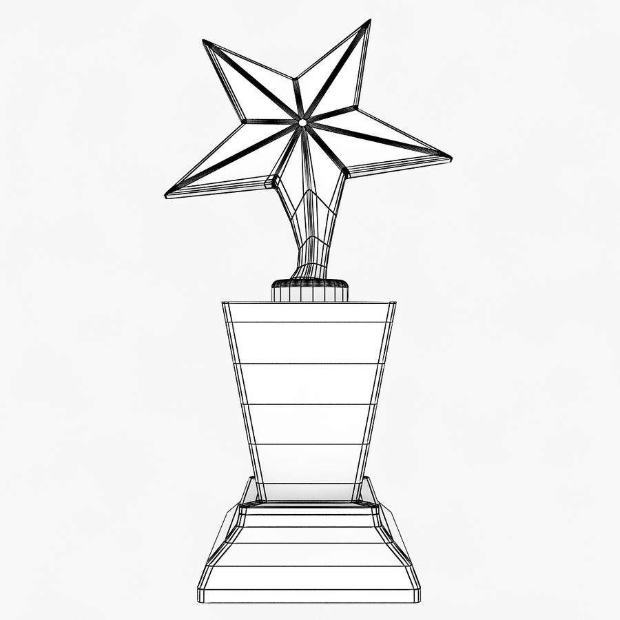 Trophy royalty-free 3d model - Preview no. 7