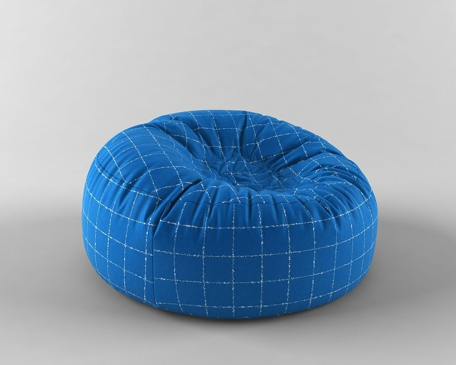 Bag chair royalty-free 3d model - Preview no. 6