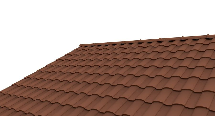 Roof Tile 2 royalty-free 3d model - Preview no. 1
