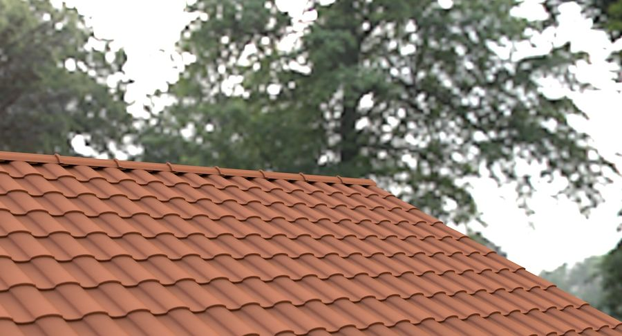 Roof Tile 2 royalty-free 3d model - Preview no. 3