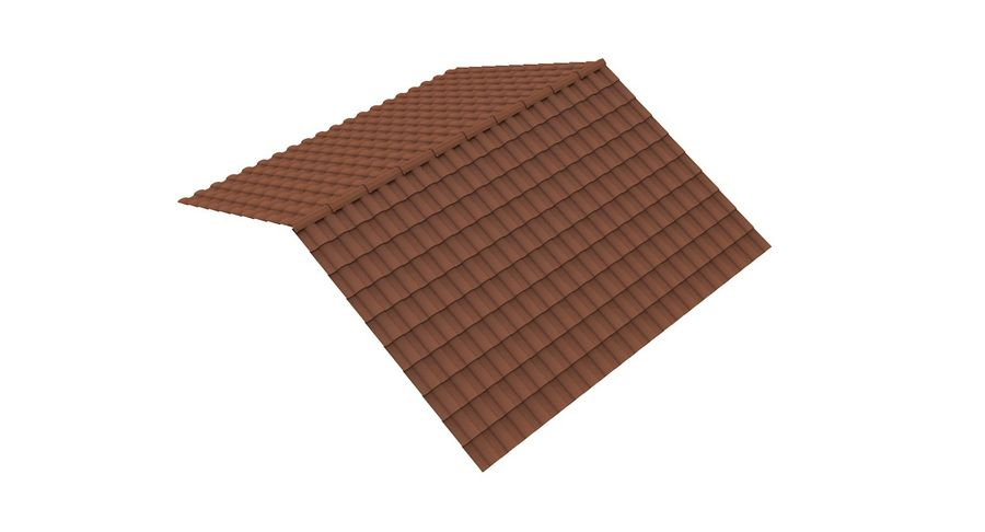 Roof Tile 2 royalty-free 3d model - Preview no. 2