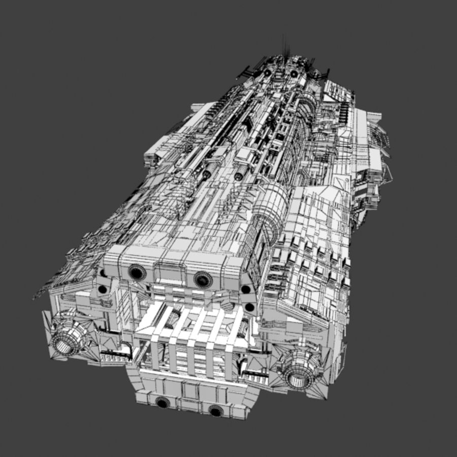 Sci Fi Large Spaceship 3 - Sci-Fi Futuristic Spacecraft Battleship Transport royalty-free 3d model - Preview no. 8