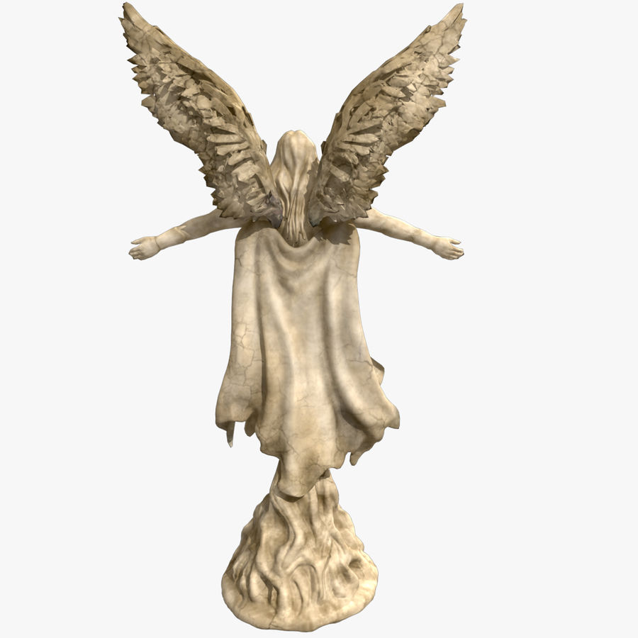Angel Statue royalty-free 3d model - Preview no. 5