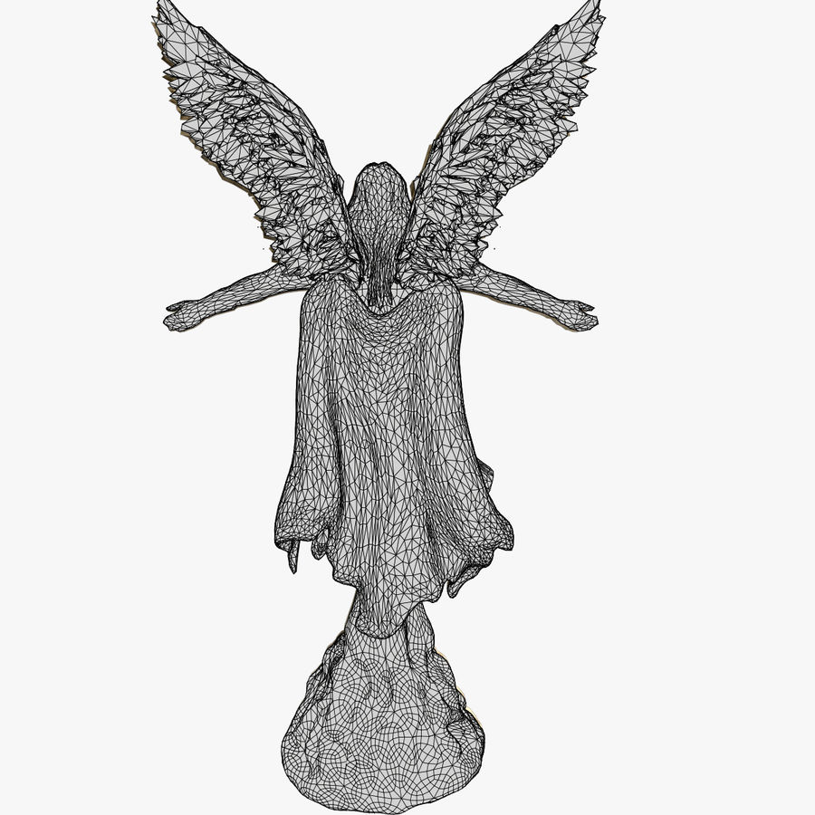 Angel Statue royalty-free 3d model - Preview no. 11