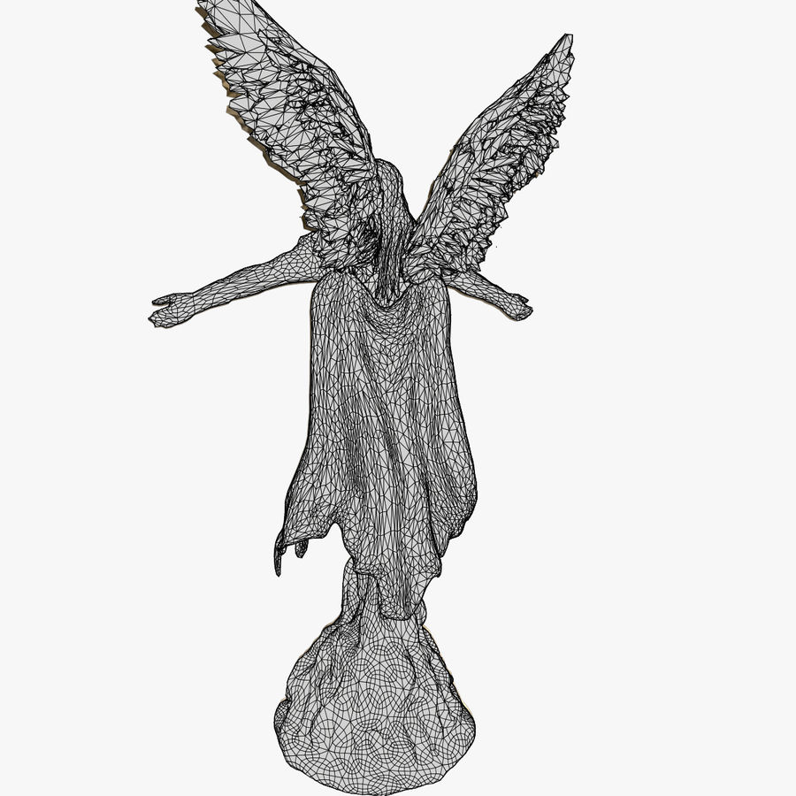 Angel Statue royalty-free 3d model - Preview no. 10