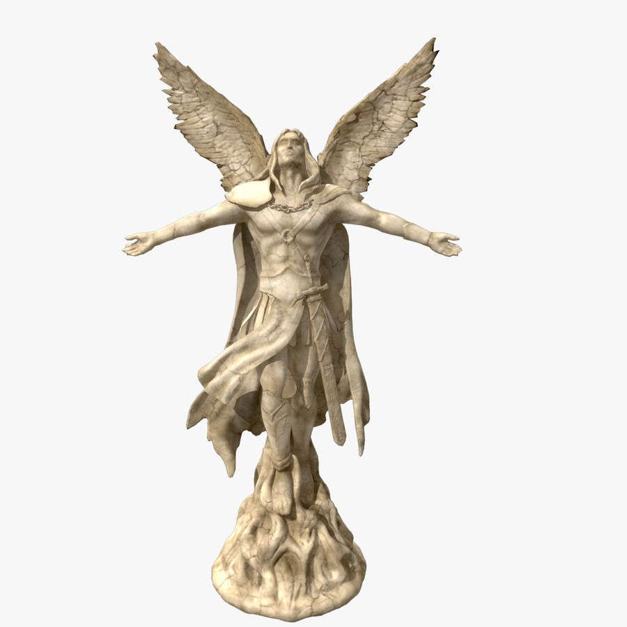 Angel Statue royalty-free 3d model - Preview no. 1