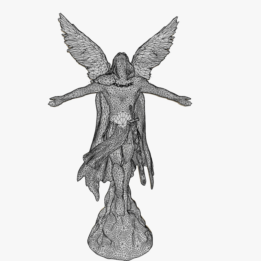 Angel Statue royalty-free 3d model - Preview no. 12