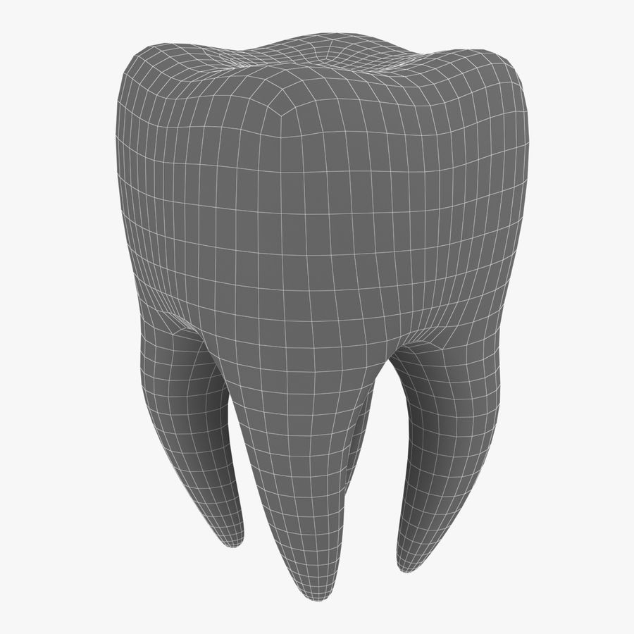 Tooth royalty-free 3d model - Preview no. 7