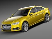 Audi A4 S-Line Sedan 2016 3d model