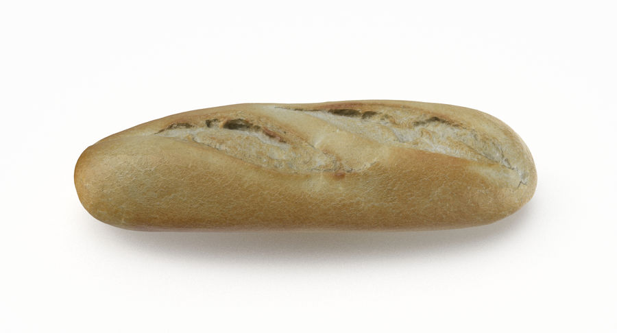 Baguette royalty-free 3d model - Preview no. 4
