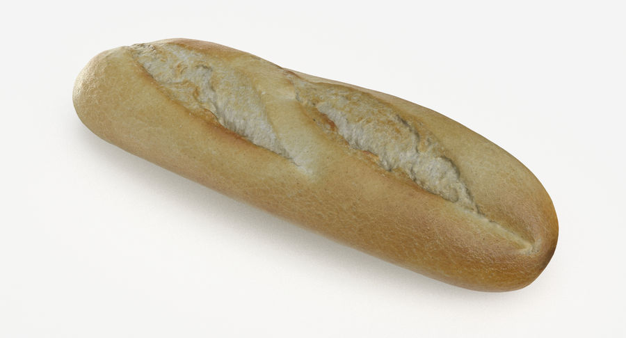 Baguette royalty-free 3d model - Preview no. 2