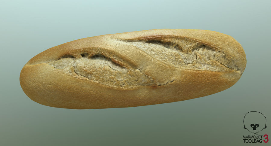 Baguette royalty-free 3d model - Preview no. 11