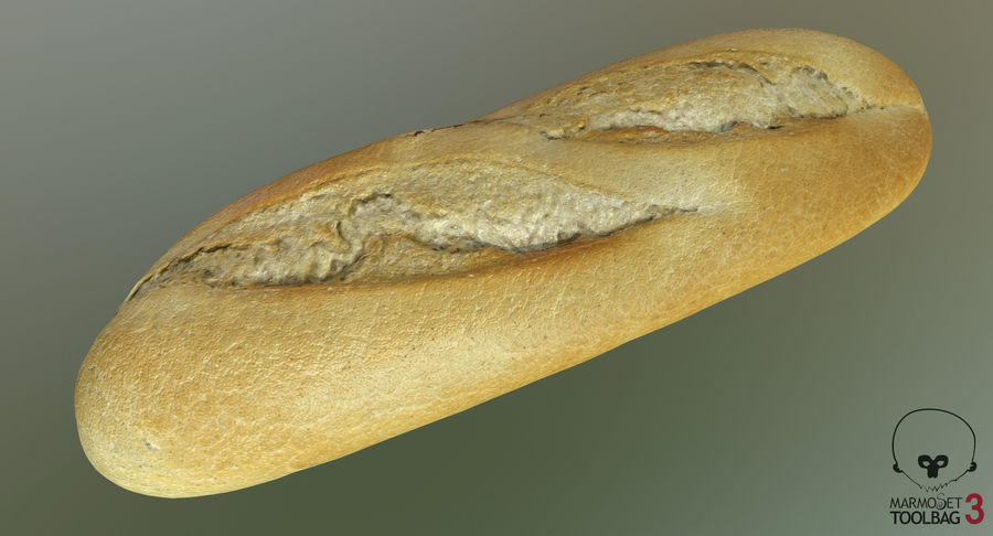 Baguette royalty-free 3d model - Preview no. 10