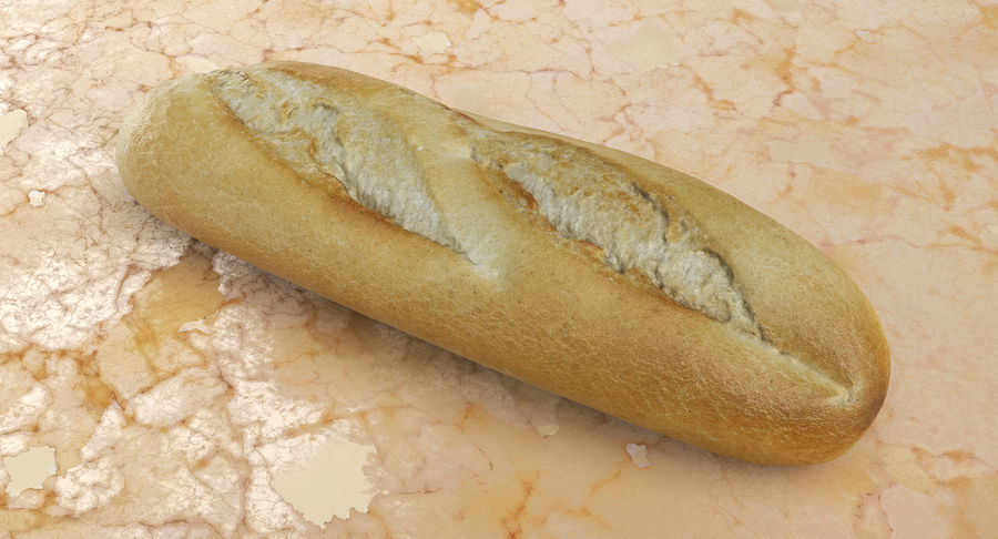 Baguette royalty-free 3d model - Preview no. 3