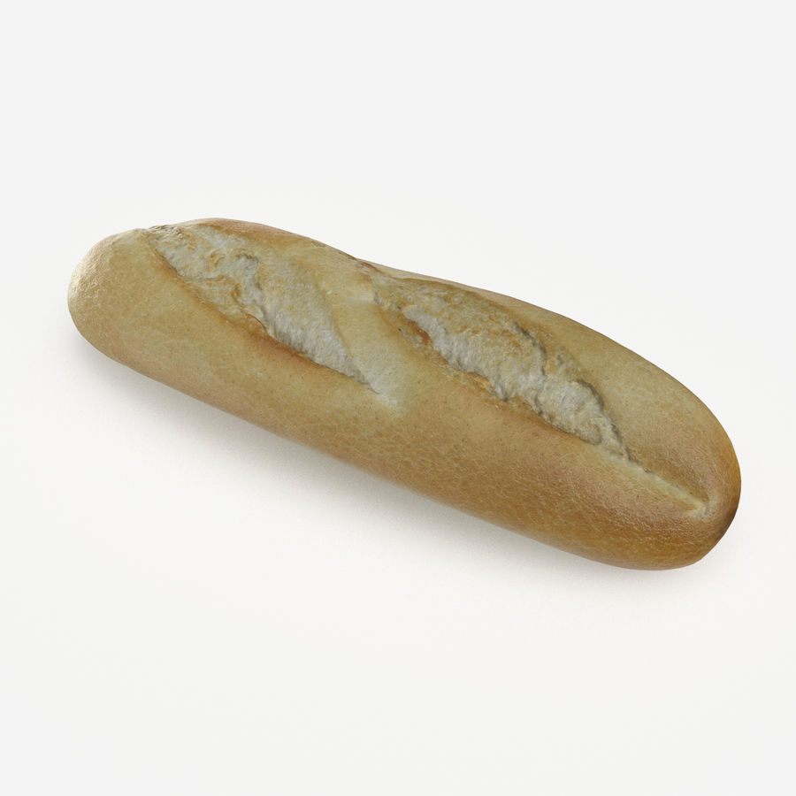 Baguette royalty-free 3d model - Preview no. 1