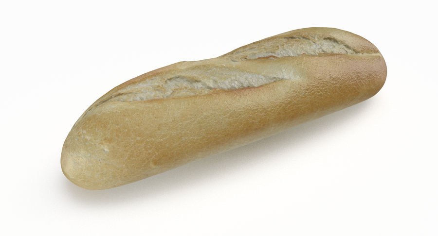 Baguette royalty-free 3d model - Preview no. 6