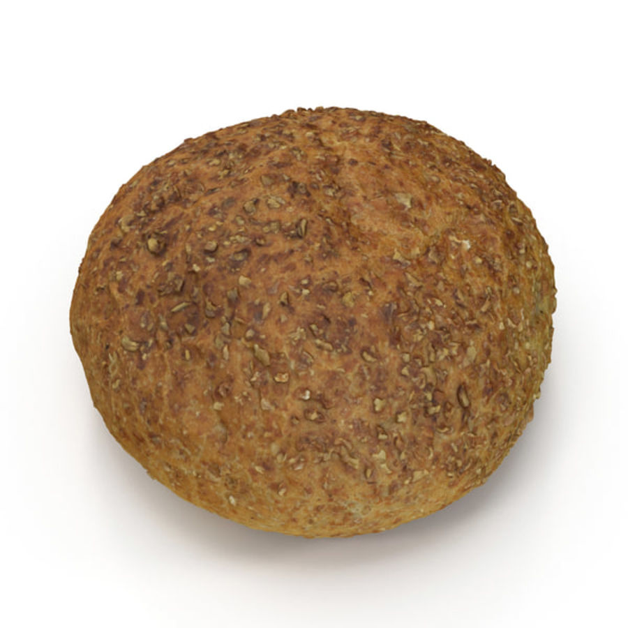 Brown Bread Roll royalty-free 3d model - Preview no. 1