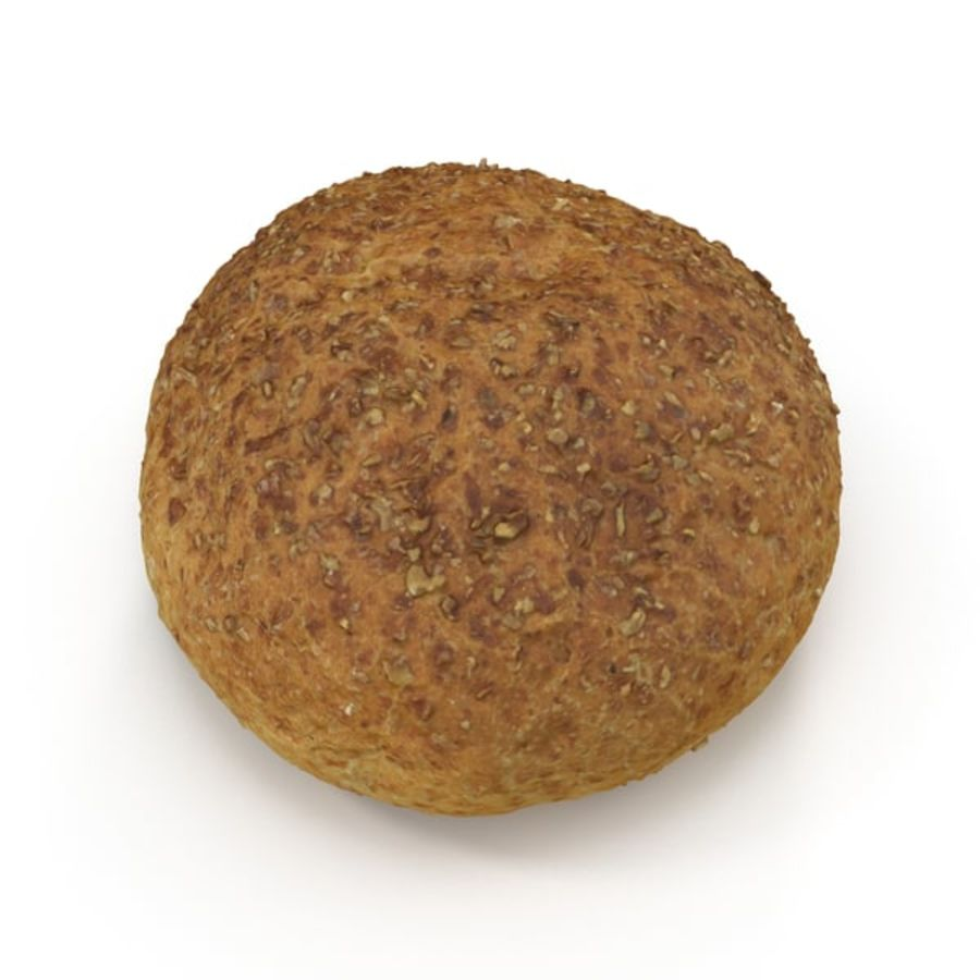 Brown Bread Roll royalty-free 3d model - Preview no. 5