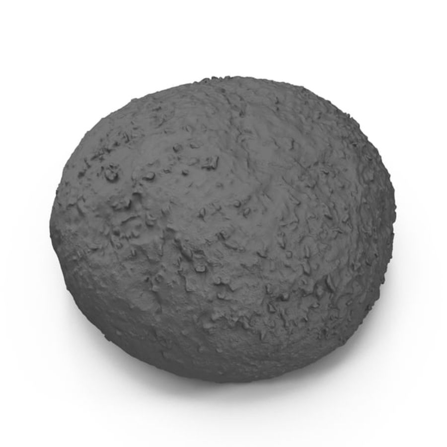 Brown Bread Roll royalty-free 3d model - Preview no. 7