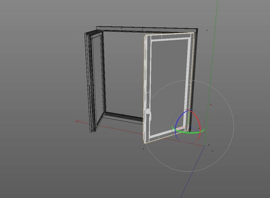 Wooden Double Window royalty-free 3d model - Preview no. 8