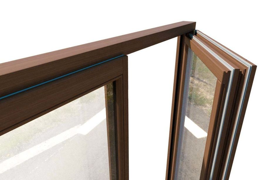 Wooden Double Window royalty-free 3d model - Preview no. 5