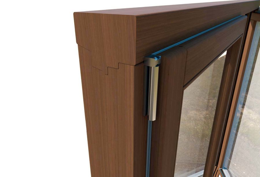 Wooden Double Window royalty-free 3d model - Preview no. 3