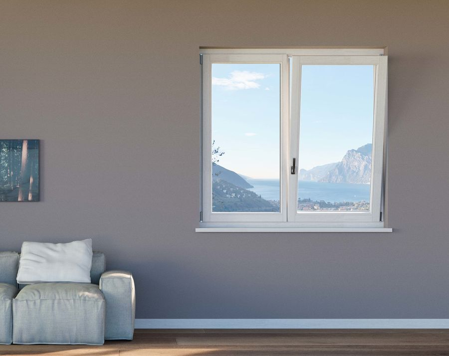 Wooden Double Window royalty-free 3d model - Preview no. 1