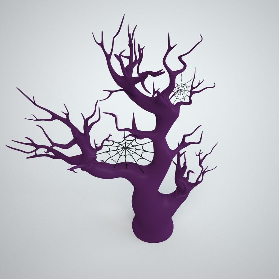 halloween tree royalty-free 3d model - Preview no. 7