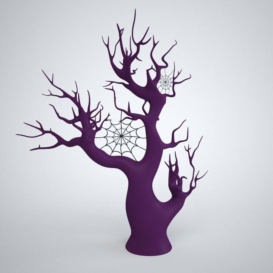 halloween tree royalty-free 3d model - Preview no. 1