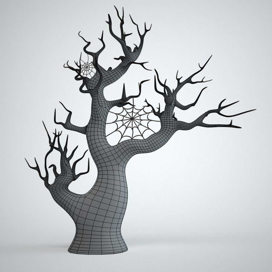 halloween tree royalty-free 3d model - Preview no. 6
