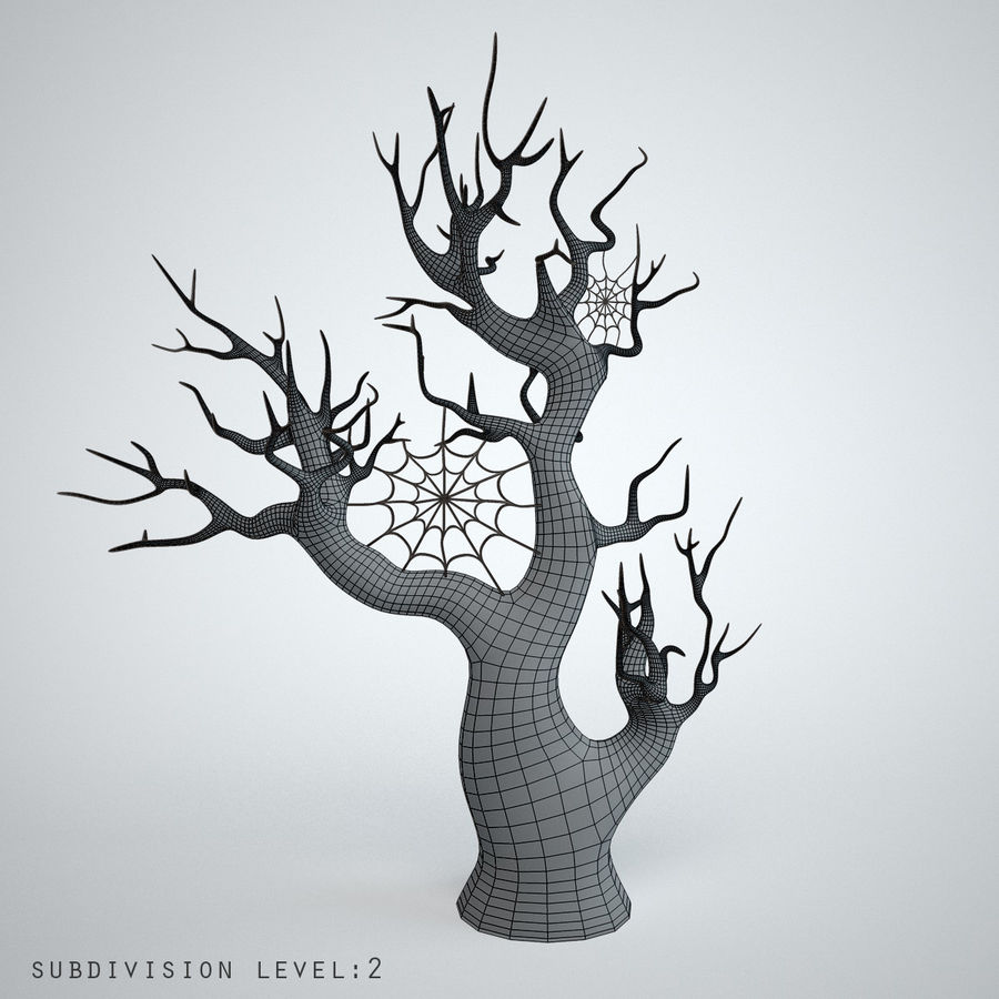 halloween tree royalty-free 3d model - Preview no. 4