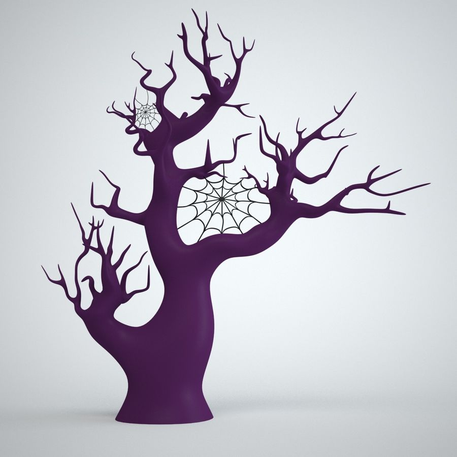 halloween tree royalty-free 3d model - Preview no. 5