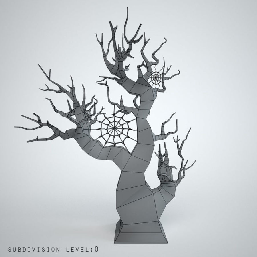 halloween tree royalty-free 3d model - Preview no. 2
