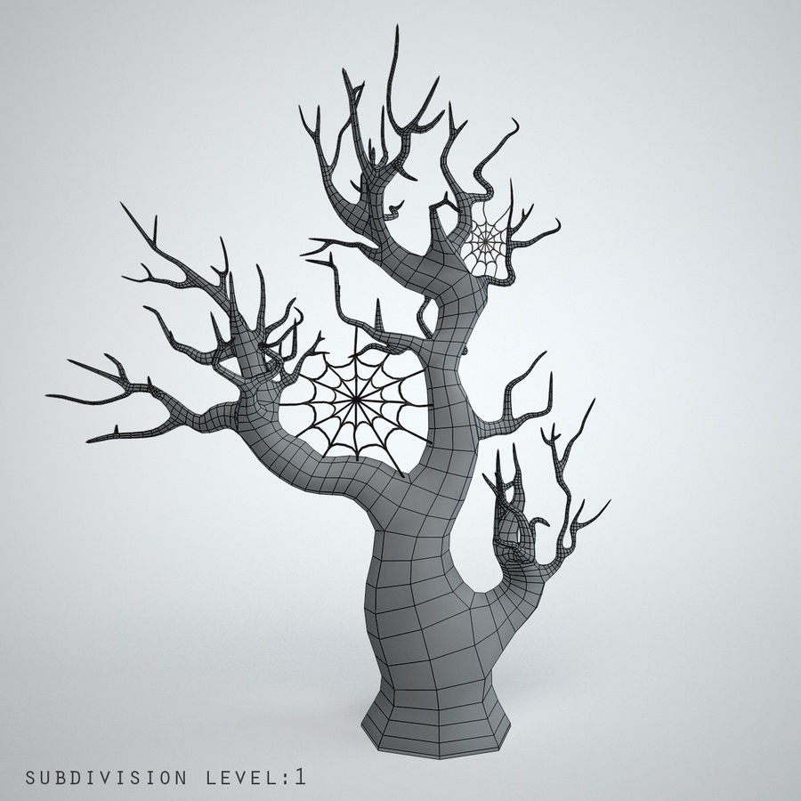 halloween tree royalty-free 3d model - Preview no. 3
