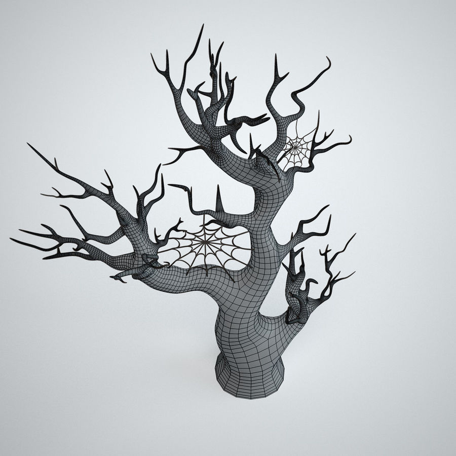 halloween tree royalty-free 3d model - Preview no. 8