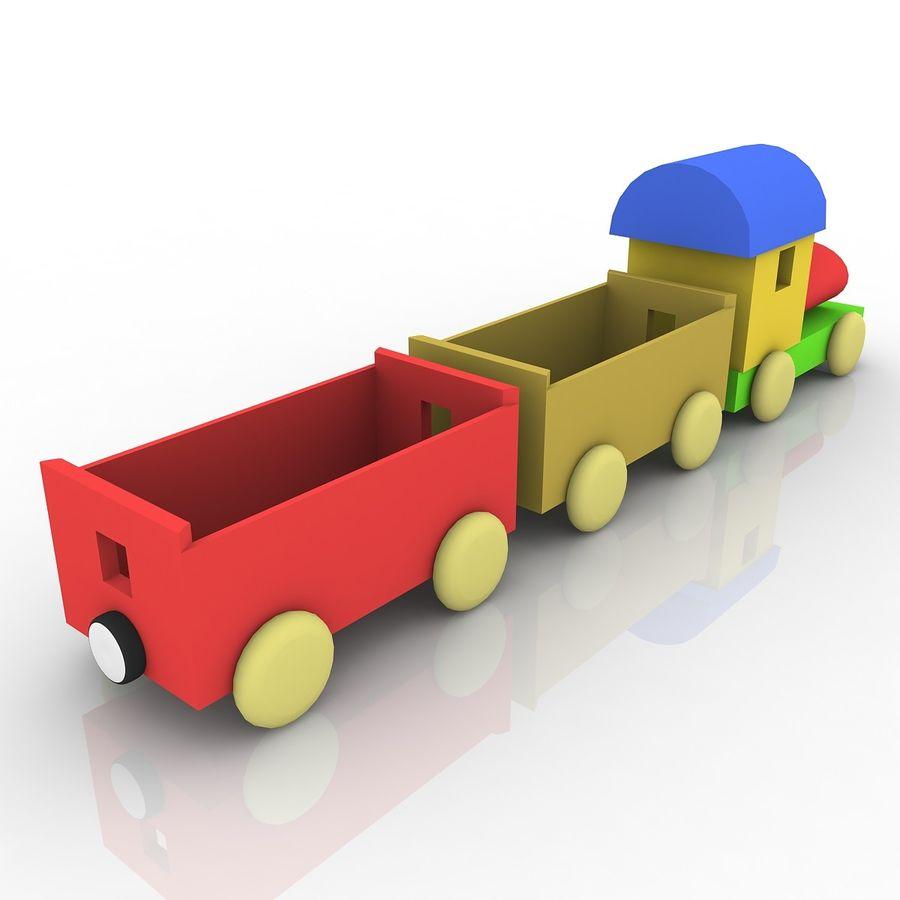 おもちゃの列車 royalty-free 3d model - Preview no. 4