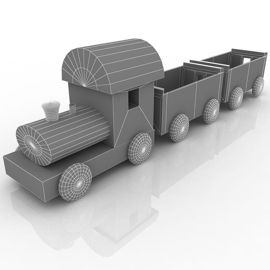 おもちゃの列車 royalty-free 3d model - Preview no. 7